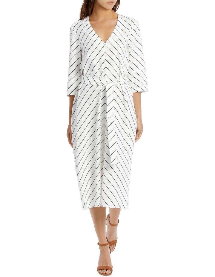 Dress Stripe Vee Neck Tie Front image 1