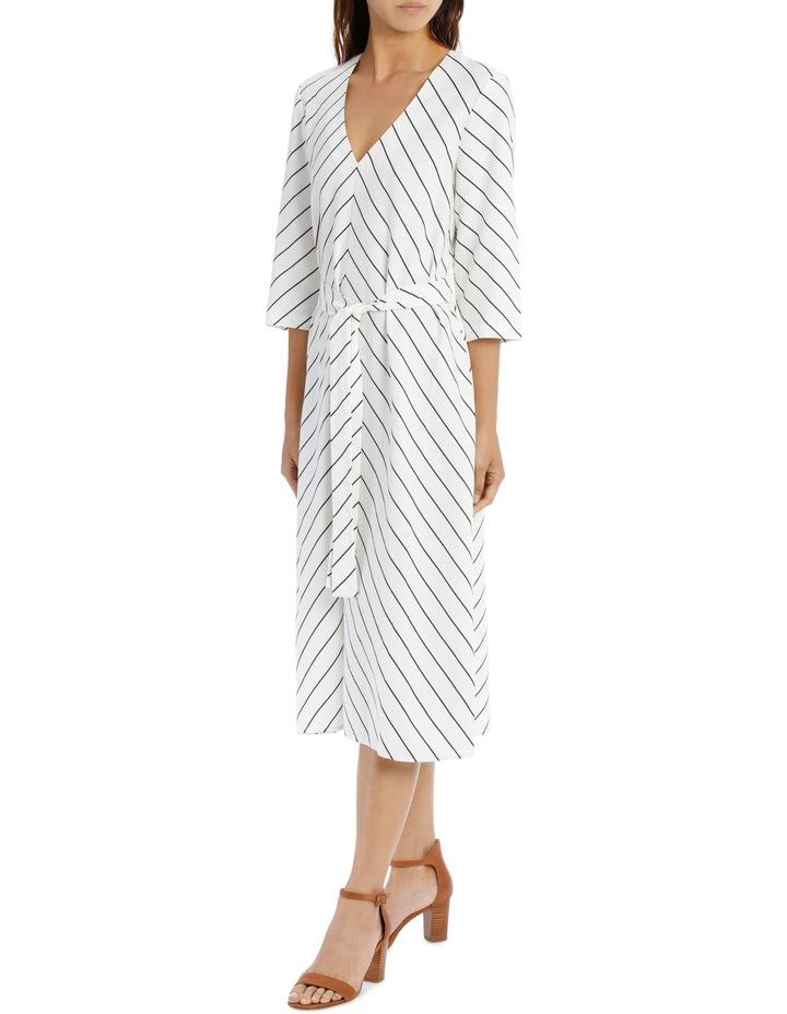 Dress Stripe Vee Neck Tie Front image 2