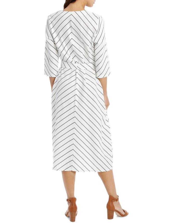 Dress Stripe Vee Neck Tie Front image 3