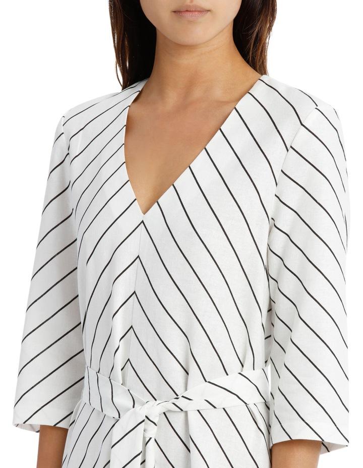 Dress Stripe Vee Neck Tie Front image 4