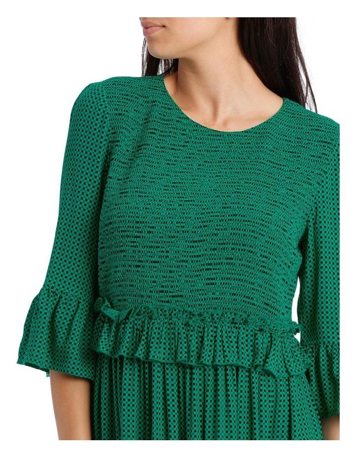 Dress Shirred with Ruffle Sleeve image 4