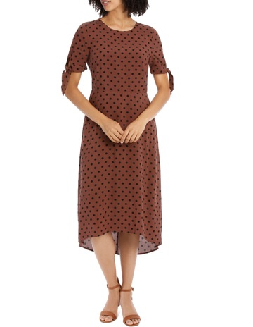 fdc8c7846e7 Piper Dress Spot with Tie Sleeve