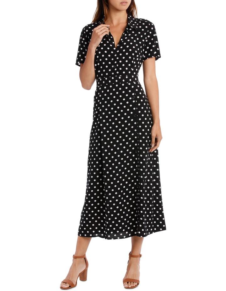 Dress Button Through Spot Short Sleeve image 1