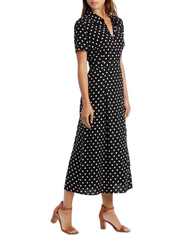 Dress Button Through Spot Short Sleeve image 2