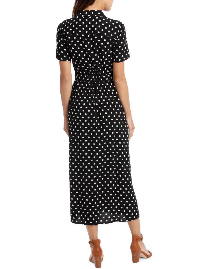 Dress Button Through Spot Short Sleeve image 3
