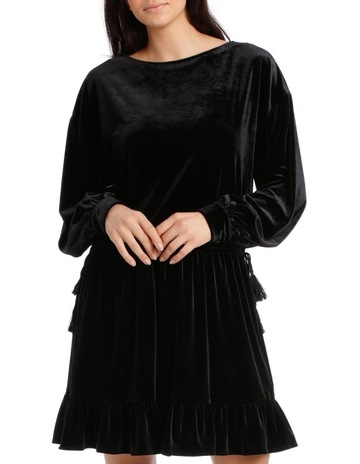 1b293cbf3b7 Piper Dress Velvet with Tunnel Waist