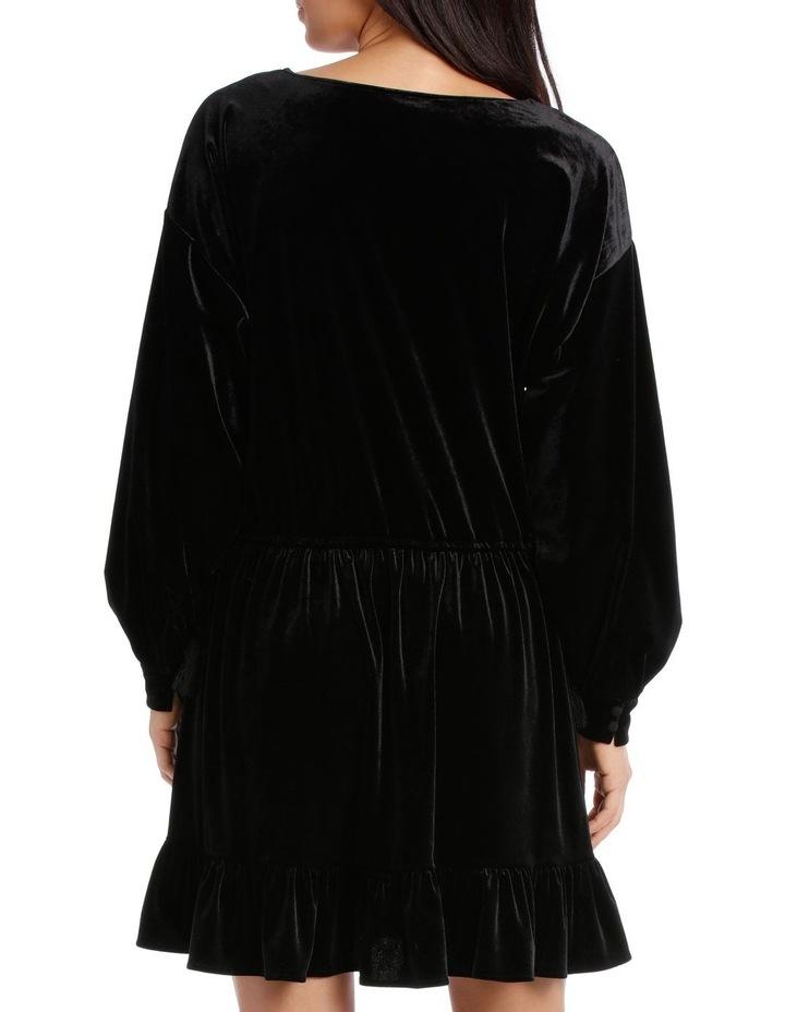 Dress Velvet with Tunnel Waist image 3