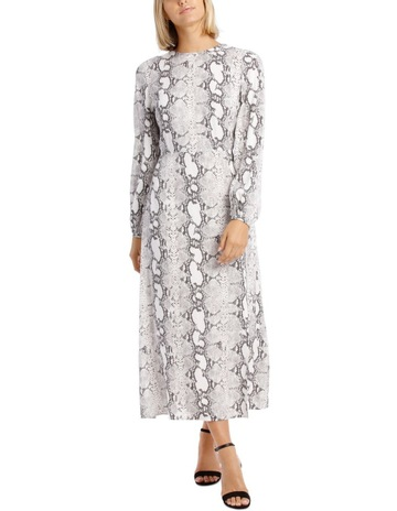 3f046b1211a Piper Dress Sleeve with Tie Snake Print