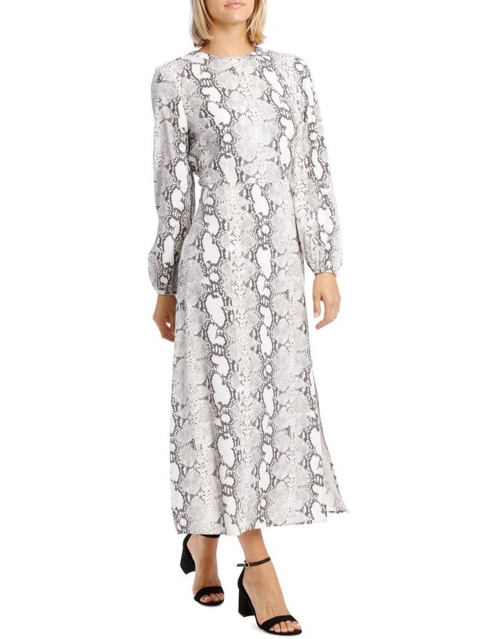 Dress Sleeve with Tie Snake Print image 2