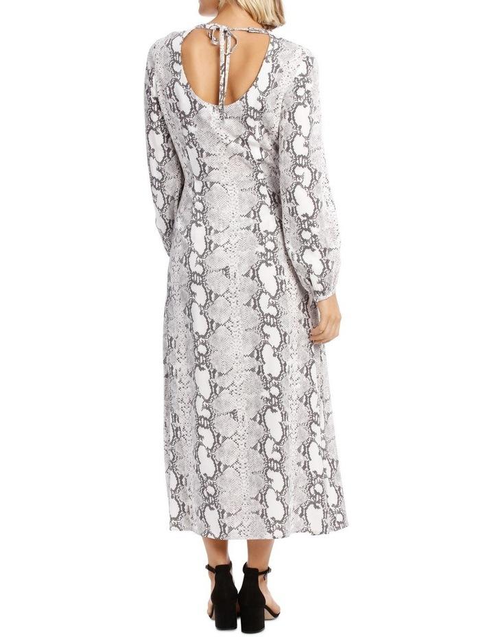 Dress Sleeve with Tie Snake Print image 3