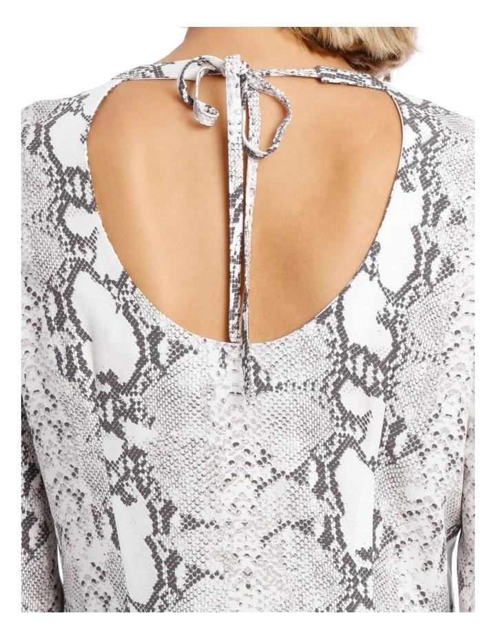 Dress Sleeve with Tie Snake Print image 4