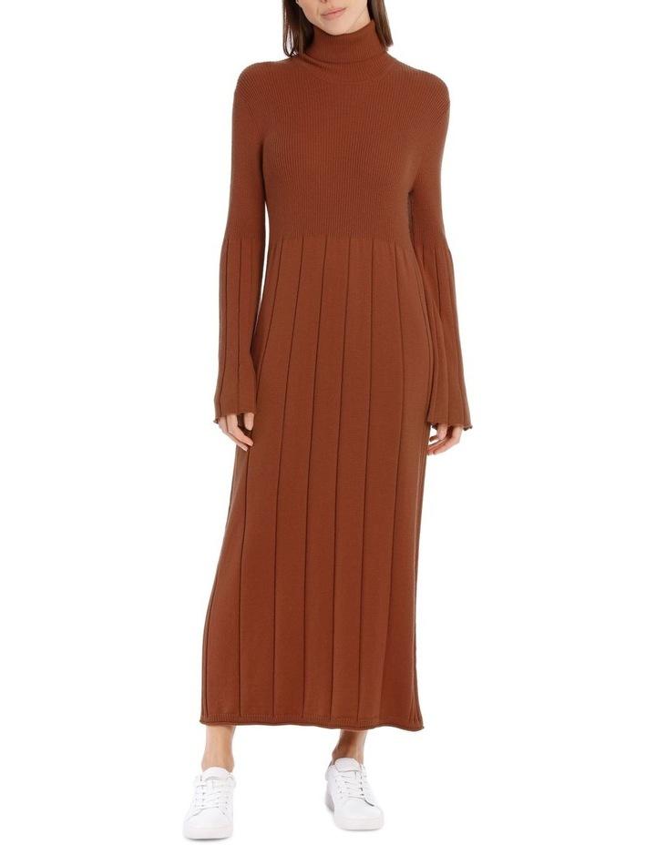 Knitted Rib Mid Calf Dress image 1