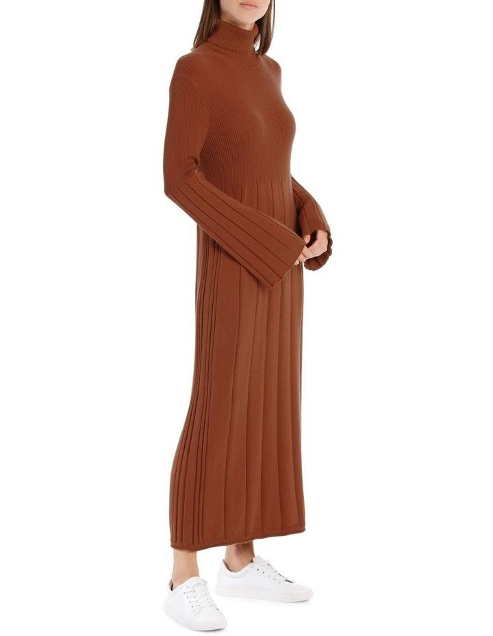 Knitted Rib Mid Calf Dress image 2