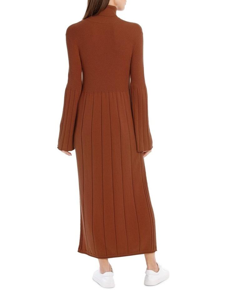 Knitted Rib Mid Calf Dress image 3