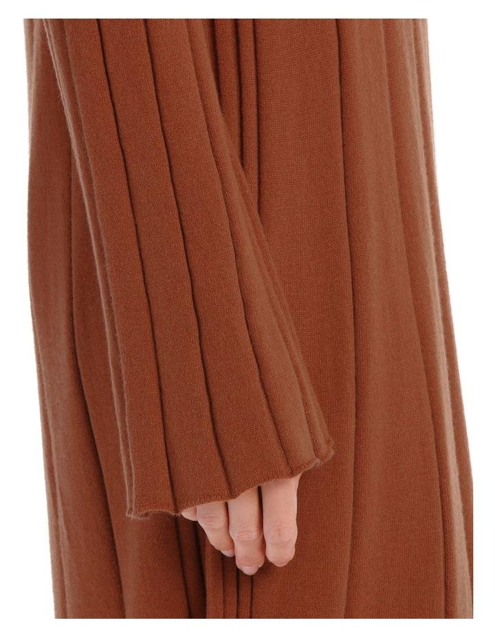 Knitted Rib Mid Calf Dress image 4