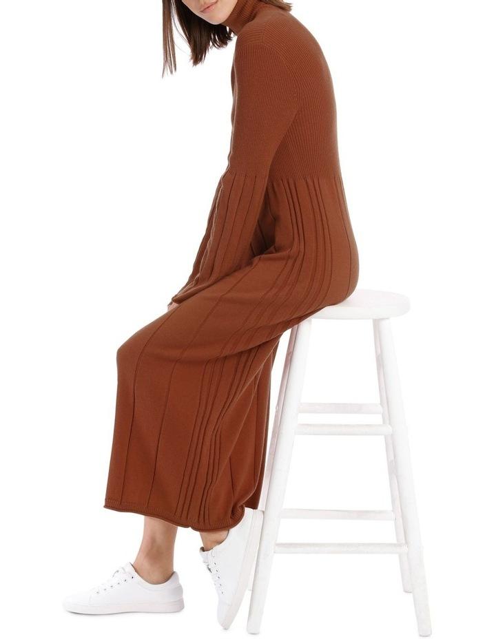 Knitted Rib Mid Calf Dress image 5