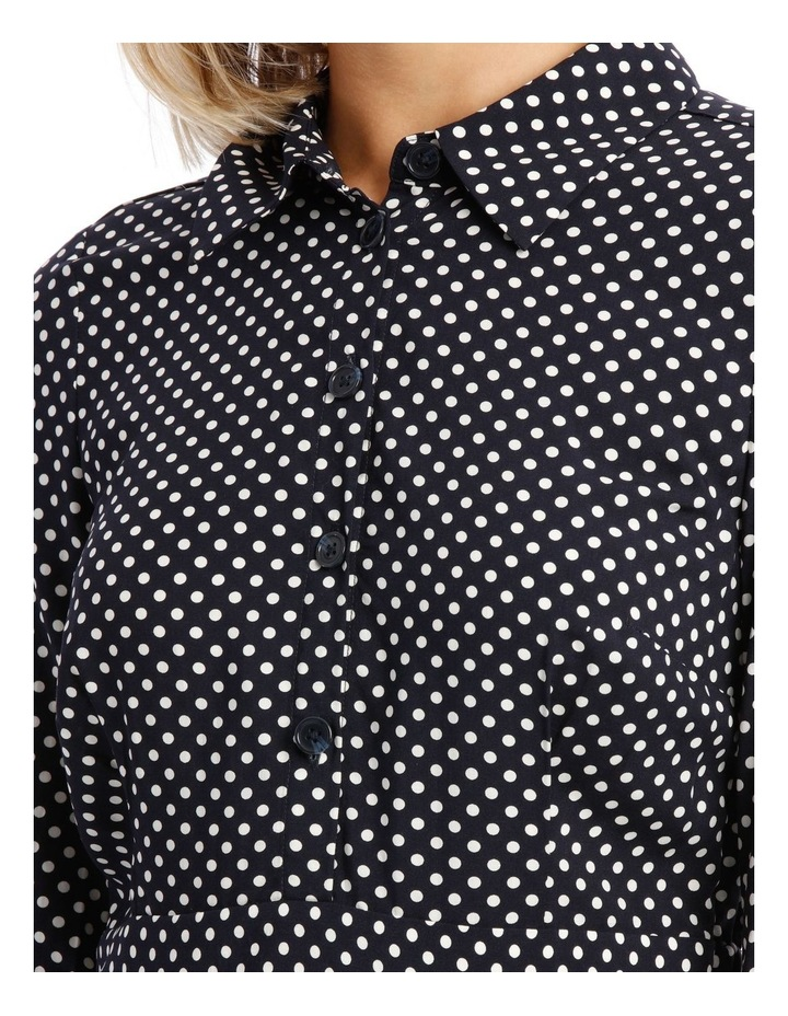 Long Sleeve Dress Spot Shirt image 4