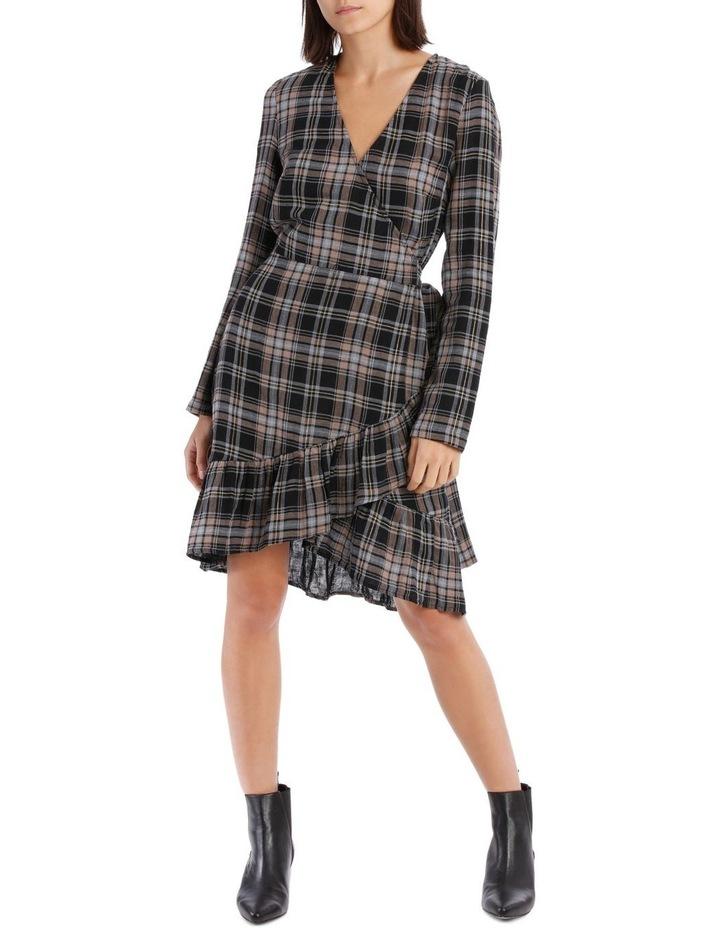 Check Wrap Dress image 1