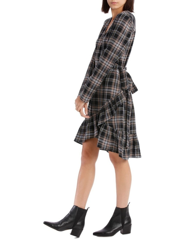 Check Wrap Dress image 2