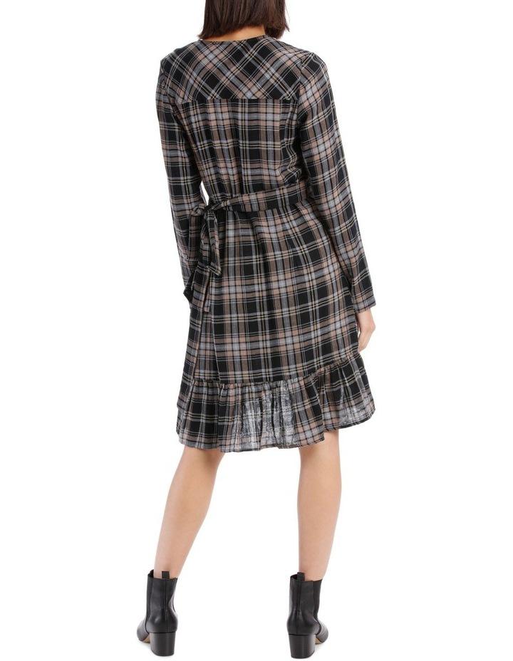 Check Wrap Dress image 3