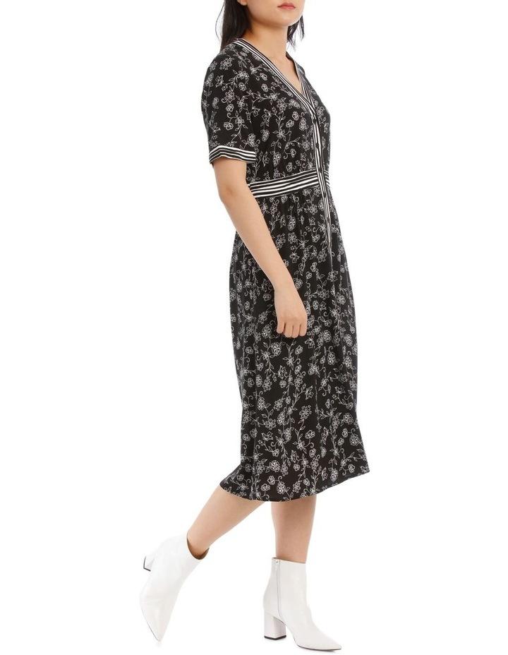 Dress Floral Stripe Short Sleeve image 2