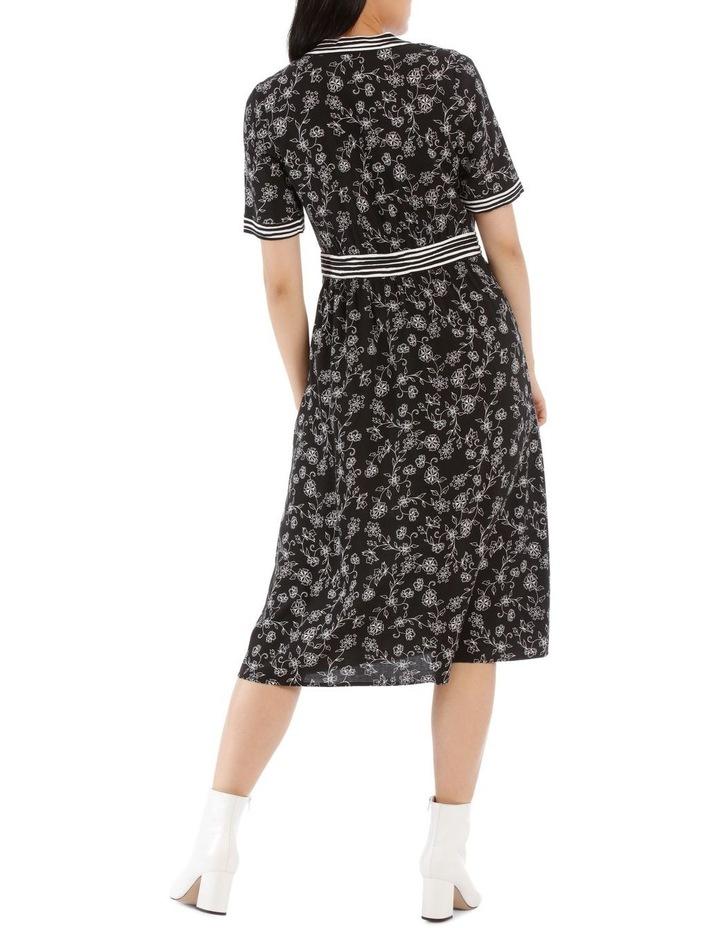 Dress Floral Stripe Short Sleeve image 3