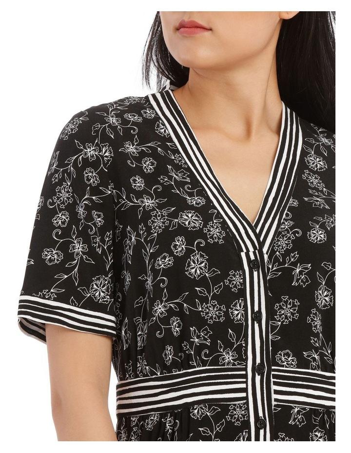 Dress Floral Stripe Short Sleeve image 4