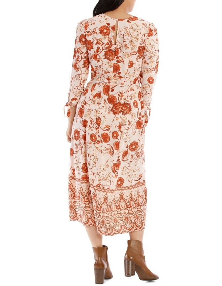 Long Sleeve Placement Dress image 3