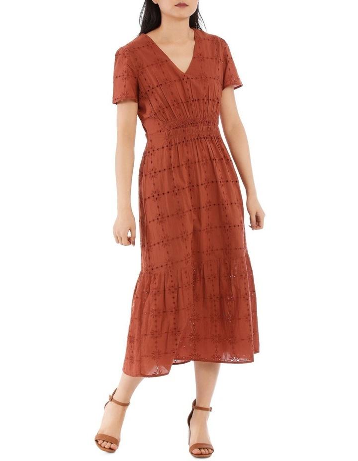 Broderie Short Sleeve Dress image 1