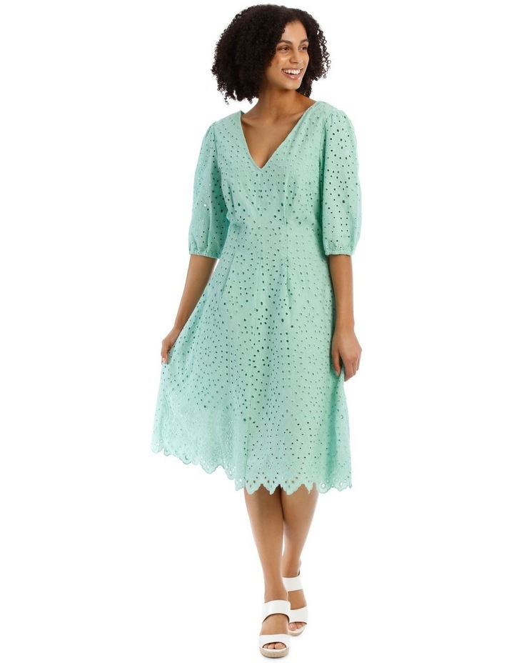 Broderie Vee Neck Dress image 1