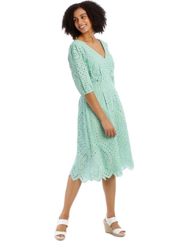 Broderie Vee Neck Dress image 2