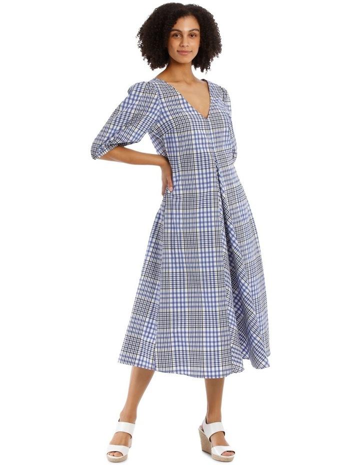 Vee Neck Check Dress image 1