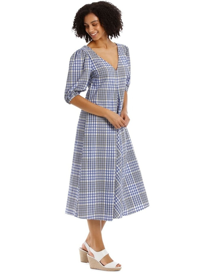 Vee Neck Check Dress image 2