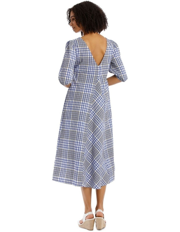 Vee Neck Check Dress image 3