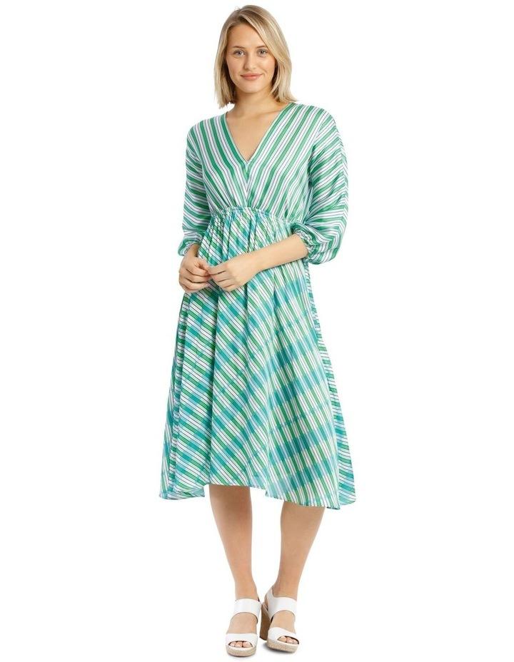 Multi Stripe Bias Cut Dress image 1