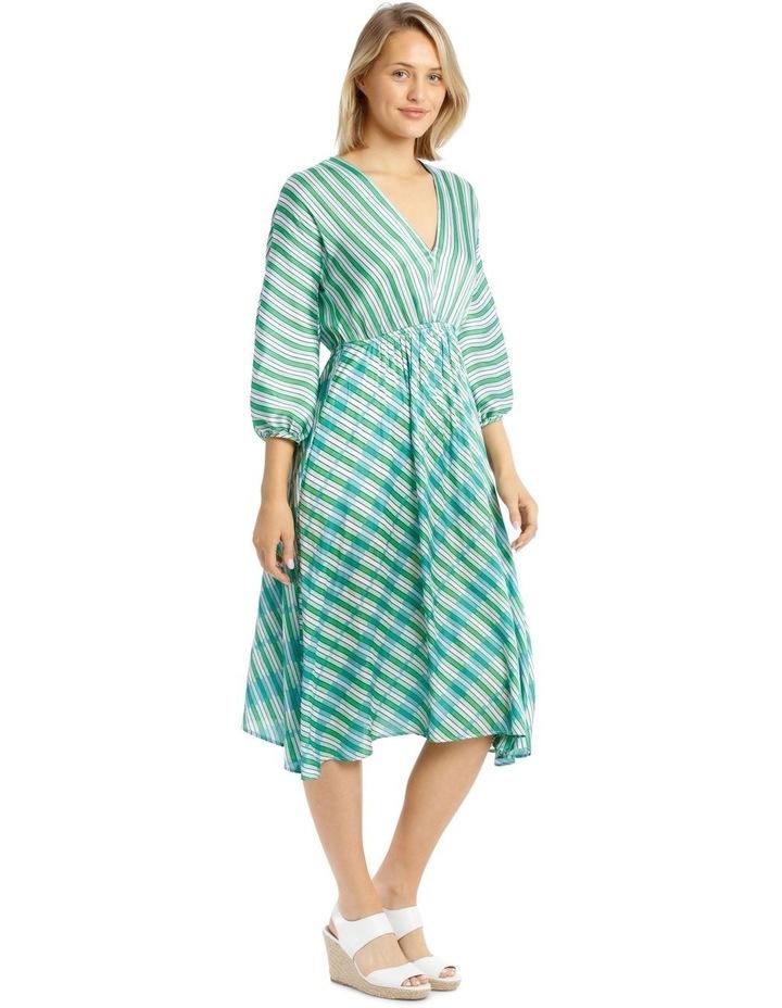Multi Stripe Bias Cut Dress image 2