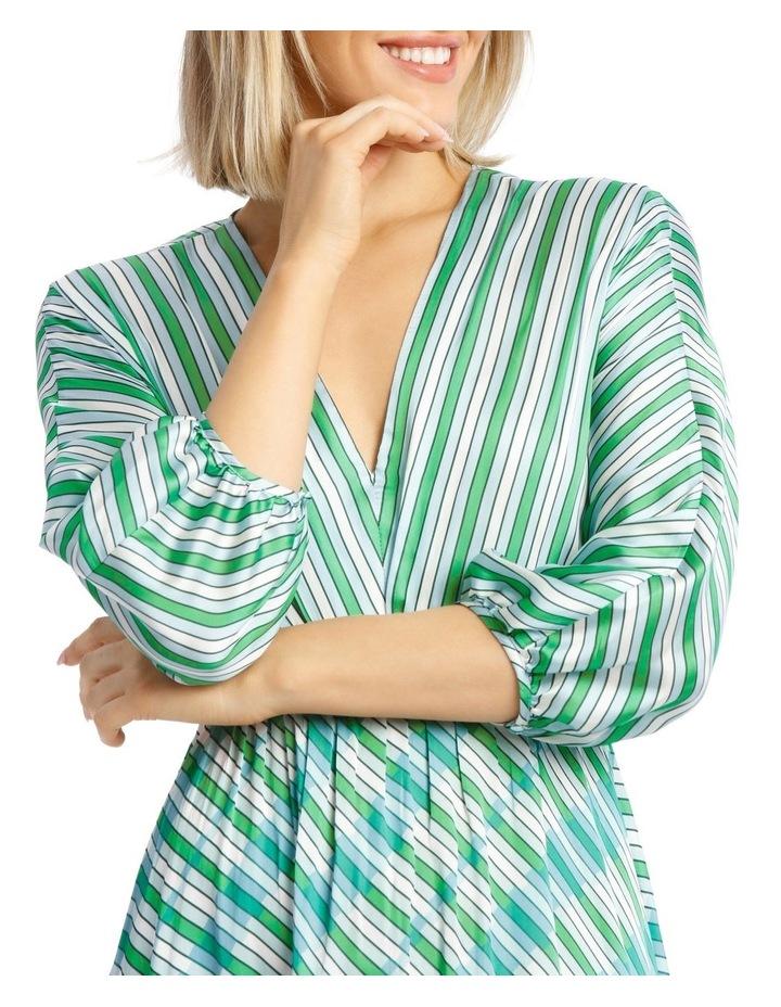 Multi Stripe Bias Cut Dress image 4