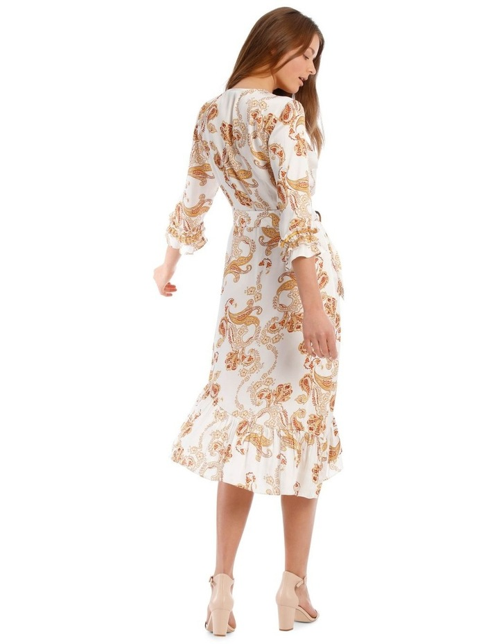 Belted 3/4 Sleeve Multi Frill Dress image 3