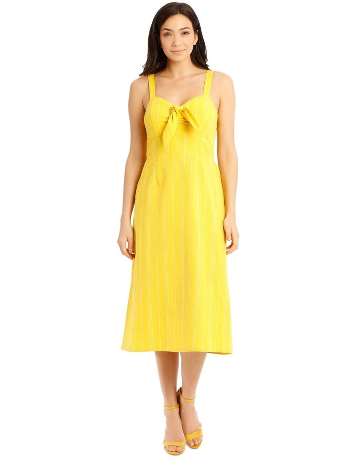 Shirred Back Dress With Tie image 1