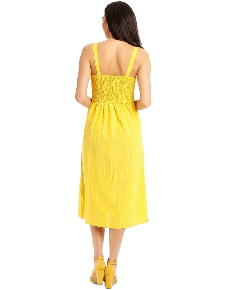 Shirred Back Dress With Tie image 3