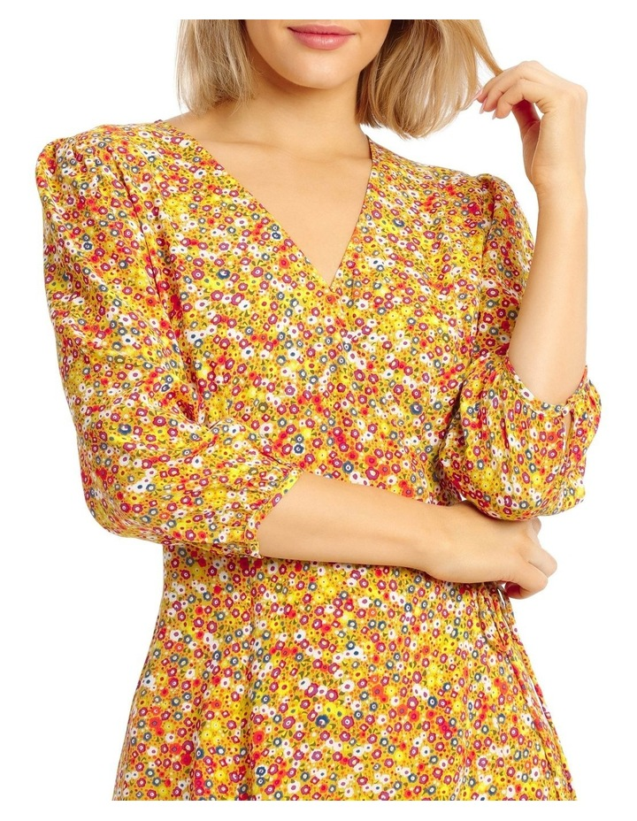 Printed Wrap Dress image 4