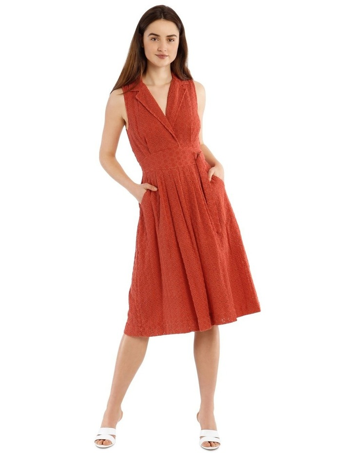 Broderie Dress With Buckle Detail image 1