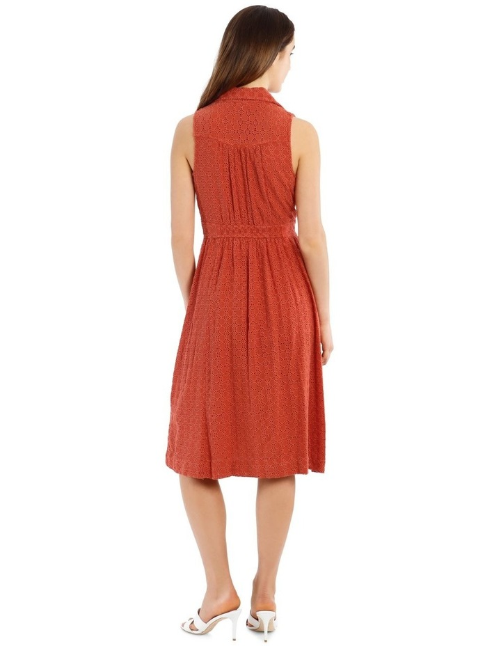 Broderie Dress With Buckle Detail image 3