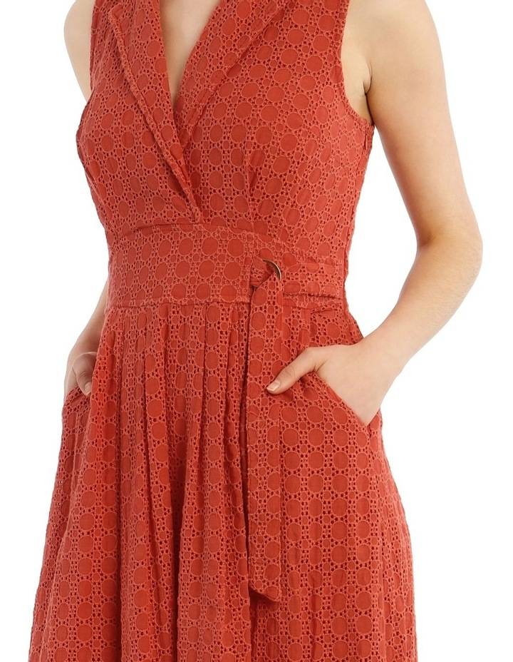 Broderie Dress With Buckle Detail image 4