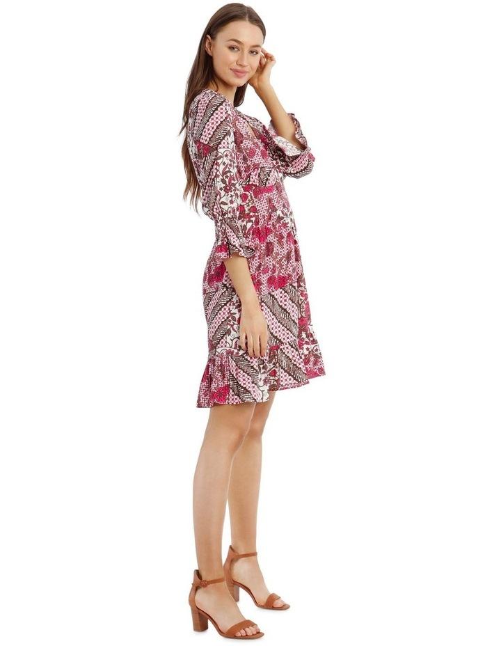 3/4 Sleeve Print Dress image 2