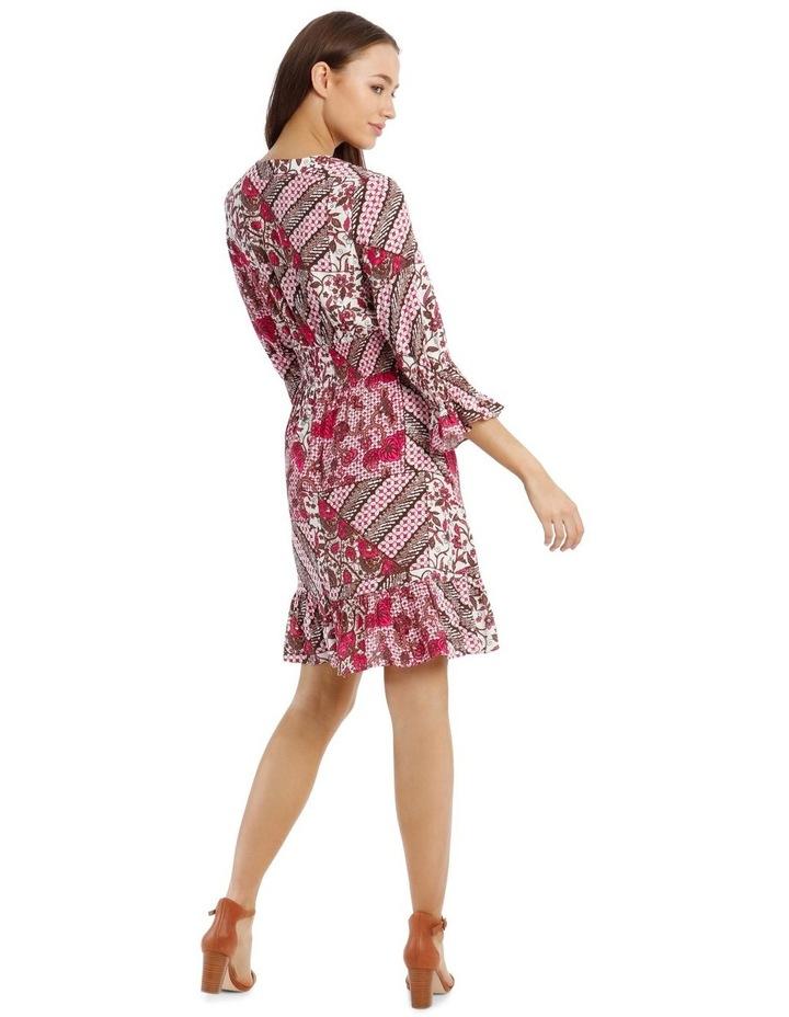 3/4 Sleeve Print Dress image 3