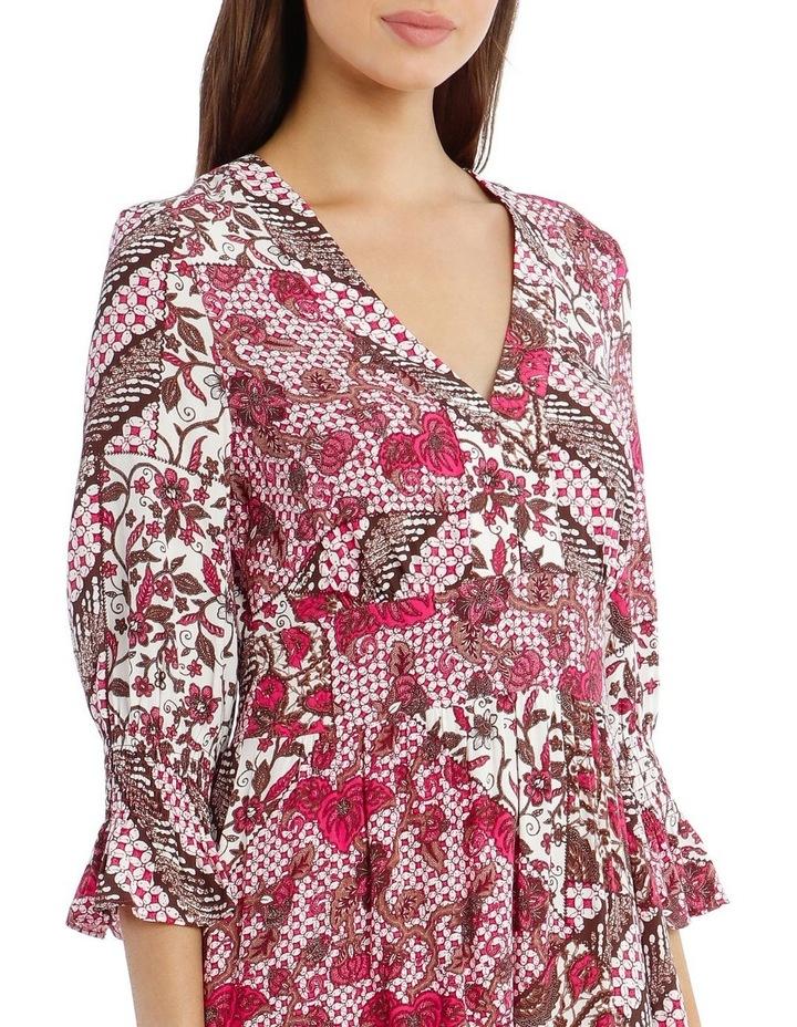 3/4 Sleeve Print Dress image 4
