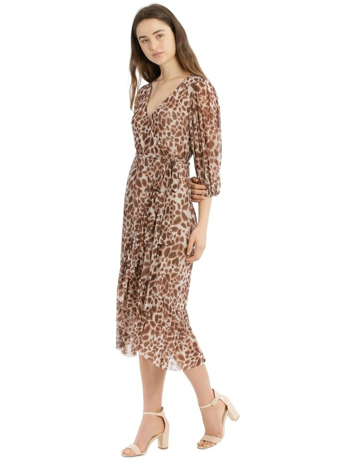3/4 Sleeve Mesh Print Dress image 2