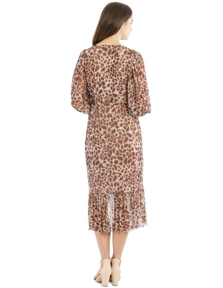 3/4 Sleeve Mesh Print Dress image 3
