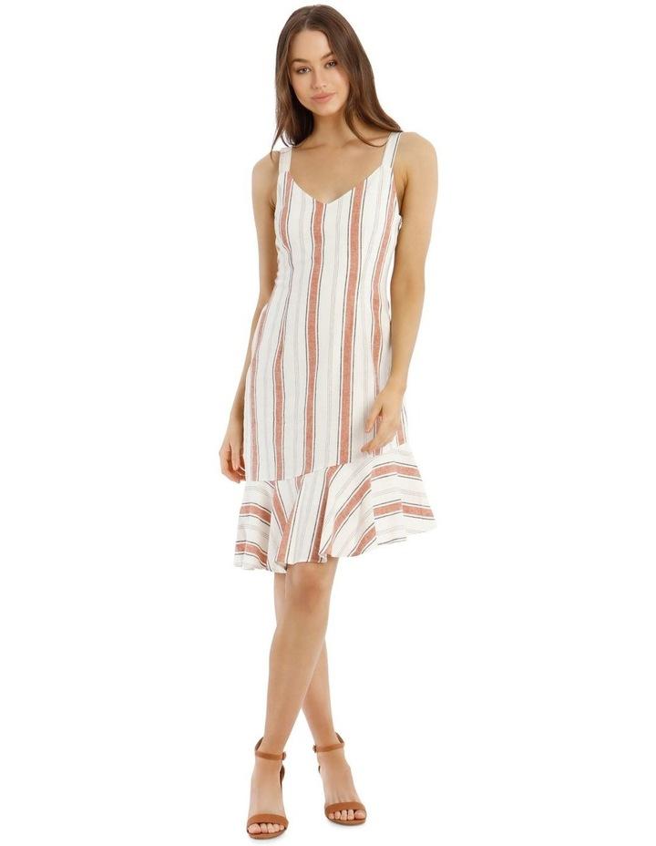 Fluted Hem Dress Yarn Dye image 1
